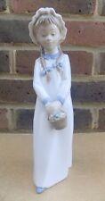 NAO BY LLADRO Figurine - Girl Nightwear Holding Basket