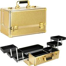 Train Makeup Artist Case Travel Organizer with 6 Extendable Trays by Ver Beauty