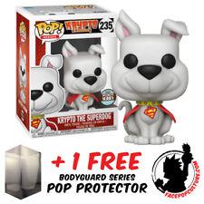 FUNKO POP DC SUPERMAN KRYPTO SUPERDOG SPECIALTY EXCLUSIVE + FREE POP PROTECTOR