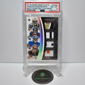 2016 Panini Immaculate Thomas/Miller/Shepard/Boyd Quad Relic RC Rookie /3 PSA 8