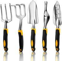 5PCS Garden Hand Fork Trowel Gardening Planting Digging Stainless Steel Tool Set