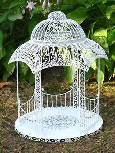 White Wire Hexagonal Gazebo Decorative Room Box - Artisan Dollhouse Miniature