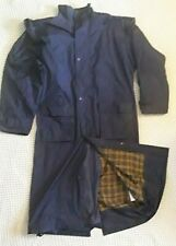 TARGET DRY 'OUTBACK' LADIES FULL LENGTH BLUE WATERPROOF COAT SIZE XL EQUESTRIAN
