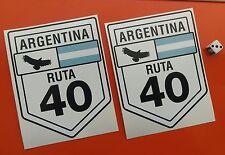 """X2 ruta 40 Argentina Calcomanías Adhesivas grande 6"""" X 4.5"""" Aprox 7-10 Año de vinilo"""