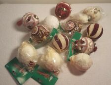 VTG RARE The Christmas Collection Twelve (12) Decorated Balls Ornaments Tree