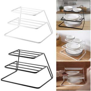 Kitchen Plate Pot Pan Stacker Store Rack Holder Corner Cupboard Space Saver
