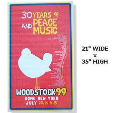 WOODSTOCK 99 1999 30 YEARS BAND LIST POSTER RARE NEW SEALED NOS OFFICIAL