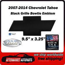 2007-2014 Tahoe Black Powder Coat Billet Bowtie Grille Emblem AMI 96293K