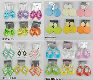 A-009 Wholesale Jewelry lots 10 pairs Mixed Style Colorful Drop Fashion Earrings