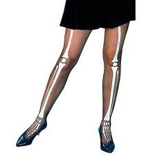Halloween Kostüm Sexy skelett-strumpfhose Knochen schwarz / Aufdruck NEU H