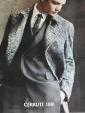 PUBLICITE ADVERTISING  2012   CERRUTI  1881  collection manteau hiver homme