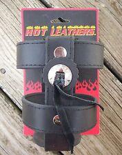 Best Leather Motorcycle Handlebar Mounted Bottle Cup Holder Harley Honda Yamaha