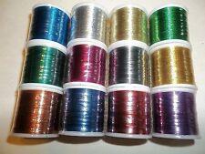 12 spools Rod smith Rod building Metallic Trim thread