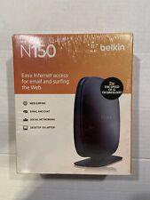 Belkin N150 Wireless/Wi-Fi Router 4 Port 2.4 GHz NIB