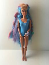 VTG Hawaiian Barbie Hula Hair Teresa Doll Rainbow Hair Jointed Doll
