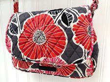Vera Bradley Retired Cherry Blossom Crossbody Bag Red, Pink & Gray Excellent