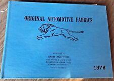 1973 ORIGINAL AUTOMOTIVE FABRICS Sales Sample Book RARE Vinyl, Headlining POS