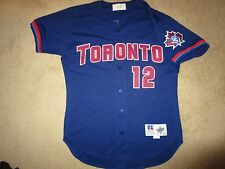 558c4bc83 Tony Phillips #12 Toronto Blue Jays 1998 MLB Game Used Worn Jersey 44