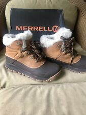 """Merrell Thermo Vortex 6"""" Pac Boots-Waterproof, Insulated (For Women),Tan,Size 11"""