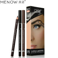 12pcs Waterproof Eye Brow Pencils Black Brown Eyebrow Pen Long Lasting Makeup