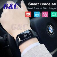 Blood Pressure Oxygen Heart Rate Monitor Smart Watch Bracelet Fitness Tracker
