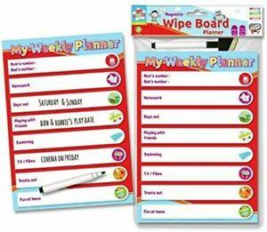 Kids Create Magnetic Wipe Board Weekly Planner with Pen 3+