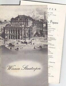 Opera Programme 1959 Vienna Figaro Teresa Stich Randall Güden Berry Wächter