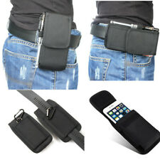 New Belt Clip Holster Soft Pouch Card Wallet Canvas Bag Cell Phone Case Cover