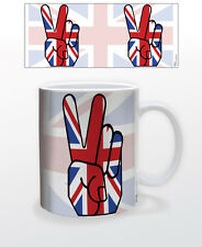 UNION JACK PEACE 11 OZ COFFEE MUG TEA CUP UK UNITED KINGDOM LONDON BRIDGE SOHO!!