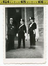 Vintage 1940's photo / VATICAN Police in Tri-Corner Hat Uniforms - Military ROME
