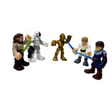 5pcs Star Wars Playskool Galactic Heroes Jedi Force Skype Walker QUI-GON R2-D2