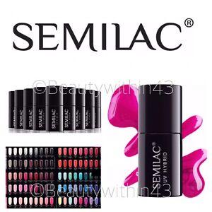 SEMILAC Hybrid UV/LED Soak Off Nail Gel Manicure  7ml PICK FROM 250 COLOUR