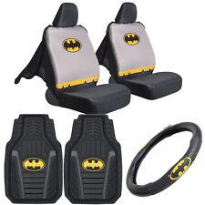 Original Batman Car Gift Set - Car Floor Mats, Seat Cover, Steering Wheel Cover