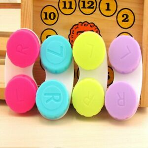 Holder Soaking Storage ABS Plastic Colorful Contact Case Contact Lens Box