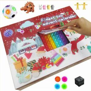 Fidget Advent Calendar Toy Christmas Toys Xmas Pop Dimple Toy **UK FAST POST**