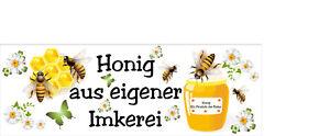 Werbebanner Banner Plane Honig Verkauf Imkerei    200 x 50 cm