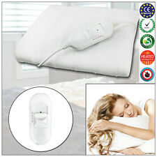 Electric Blanket Single Double King Mattress Warmer Under Blanket Heat Bed White