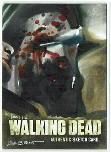 The Walking Dead Season 2 - 2012 Sketch Card 1/1 Artist Kyle Babbitt