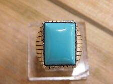 Sterling Silver Turquoise Ring Size 10.25
