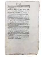 Secte des Illuminati à Strasbourg 1804 Arrestation de Pichegru Feuille de Douai
