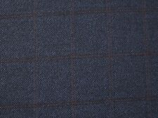 English Pure Wool Plaid Coating Dress Fabric - Sold Per Metre