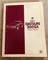 1981 Datsun 200SX 200 SX Service Repair Manual