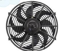 High Performance Black 14inch Thermo Fan Electric Fan Kit 220watt 12volt 12v