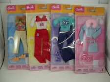 Barbie Doll Lot 4 Weekend Outfit Fashions Clothes w Shoes NEW NOC 2003