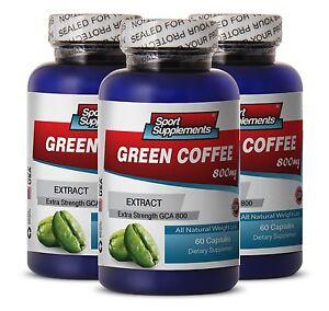 Coffee Lose Wight - Green Coffee GCA® 800mg - Metabolism Booster Caps 3B