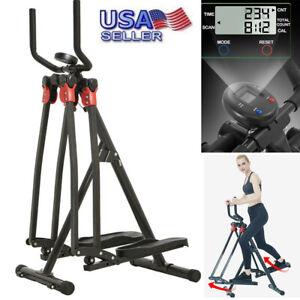 Air Walk Trainer Elliptical Machine Glider w/LCD Monitor Home Fitness Workout