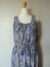 Vero Moda Super Easy Tie Waist Paisley Dress Size 12 Uk BNWT RRP £29.99 Moonbeam