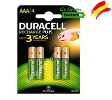 4 X Duracell AAA 750 mAh rechargeable Batteries NiMH ACCU Lr03 Hr03 Dc2400 Phone