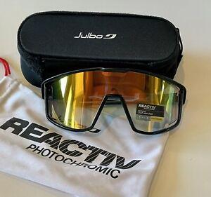 Julbo Fury Sunglasses Reactiv Performance 1-3 Lens Photochromatic Black/Red NEW