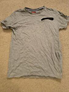 Nike Pocket Zip T-Shirt Gray Mens Large (Fits Like Medium)